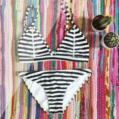 S T R I P E S • you can do no wrong in b&w stripes. There's only limited stock available of the Leighton. Get in quick before it's gone! Shop link in bio.  @lunaisabellaa #nwceveryday #nwcartel #northwestcartel #bohemian #cactus #swimwear #colour #style #fashion #flatlay