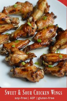Sweet & Sour Chicken Wings | Gutsy By Nature