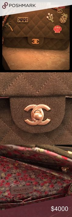 Chanel charms classic flap bag Only worn a handful of times. This bag is gorgeous and from the chanel Cuba collection. Extremely hard to get your hands on! I would keep it but I just haven't used it enough and don't think I will ultimately to justify the price. It will come with dust bag and box. CHANEL Bags Shoulder Bags