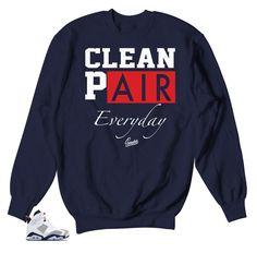 Jordan 6 Tinker Sweater - Everyday - Navy. Sneakershirts.com. Matching  Sweaters d17f84f6b