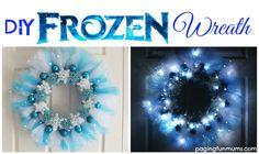 DIY Frozen Wreath 2