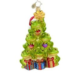 71 best Frog Ornaments images on Pinterest | Christmas decorations ...