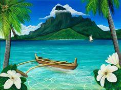 Vibrant Tropical Art & Creations by Jenn Payne Tropical Art, Tropical Birds, Tropical Paradise, Photography Gallery, Beach Photography, Happy Pictures, Paradise Island, Bora Bora, Beach Photos