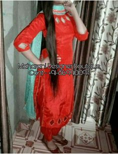 Looking For Salwar Suits or Punjabi Suits Online Boutique? At Maharani Designer Boutique, call us now on + 91 - 01094 or Whatsapp.Looking for Bridal Gown at Designer Boutiques in Jalandhar Punjab India? If yes then At Maharani Designer Boutique, we h Punjabi Dress Design, Punjabi Suit Neck Designs, Salwar Neck Designs, Kurta Neck Design, Neck Designs For Suits, Sleeves Designs For Dresses, Designer Punjabi Suits, Bridal Blouse Designs, Blouse Neck Designs