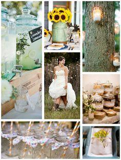 15 Cool Ideas for a Rustic Wedding - Mon Cheri Bridals