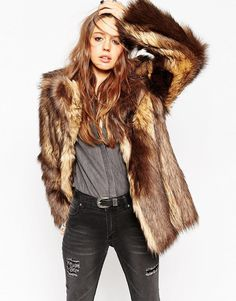 ASOS+Vintage+Faux+Fur+Coat