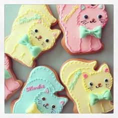 kitty cat sugar cookies
