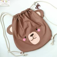 Diy Bags Purses, Diy Purse, Crochet Mat, Cute Sewing Projects, Animal Bag, String Bag, Cute Backpacks, Bag Patterns To Sew, Kids Bags