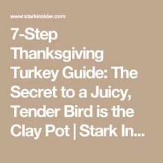 7-Step Thanksgiving Turkey Guide: The Secret to a Juicy, Tender Bird is the Clay Pot | Stark Insider