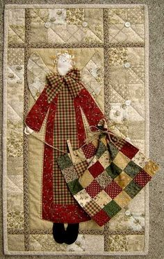 "The pattern is called ""Quilter's Angel"" designed by Terry Morberg applepatchdesigns.com:"