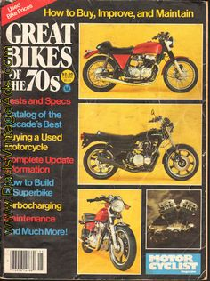 Great Bikes of the 70s – Tests and Specs – Catalog of the decades best motorcycles