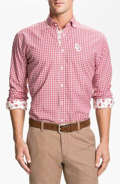 Thomas Dean 'University of Oklahoma' Gingham Sport Shirt - for Kyle