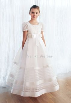 90e0365fea Sukienki komunijne - communion dress · sukienka komunijna w pasy Pierwsza  Komunia Święta