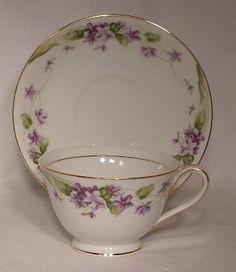 Noritake China Nancy Pattern 5163 Cup Saucer Set | eBay