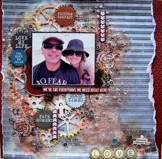Created a video tutorial on this layout. for my Kaisercraft DT work! Mixed Media Scrapbooking, Scrapbooking Layouts, Scrapbook Pages, Make Smile, Creative Video, Perfect Love, Wedding Scrapbook, Layout Inspiration, Cool Eyes