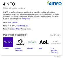 Wikireconbot was busy on freebase.com 4INFO page 7.1.2014, 7.18 new Google Knowledge Graph 4 http://www.4info.com