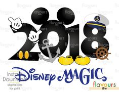 2018 Disney Magic - Cruise Trip - Disney Cruise - Digital Files Printables - Iron On Transfer - JPG Files Disneyland Cruise, Disney Magic Cruise, Disney Wonder Cruise, Disney Vacations, Packing For A Cruise, Vacation Packing, Cruise Travel, Packing Lists, Cruise Nails