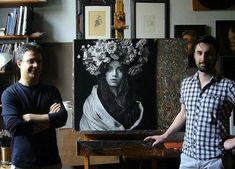 Emanuele Dascanio is a true master of his craft, creating incredibly realistic graphite pencil and charcoal portraits. Realistic Pencil Drawings, Pencil Art Drawings, Alphonse Mucha, Art Pop, Pablo Picasso, Painters Studio, Charcoal Portraits, Painter Artist, Italian Artist