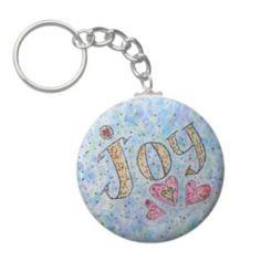 Joy Word Art Keychain