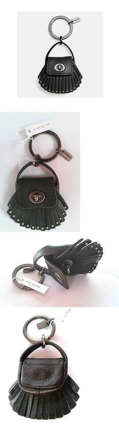 Key Chains Rings and Finders 45237: Coach Dakotah Black Bag Key Chain, Turn Lock Opens, Stud Tassel Fringe 63352 Nwt -> BUY IT NOW ONLY: $39.95 on eBay!