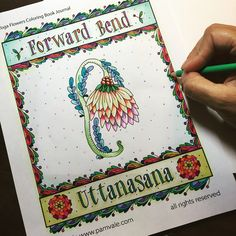 Happy National Coloring Book Day This Is From My Flower Yoga Journal Available