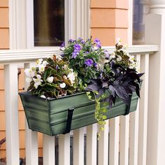 Amazon.com : Achla Designs Galvanized Window Flower Box Planter, Small : Plant Window Boxes : Patio, Lawn & Garden