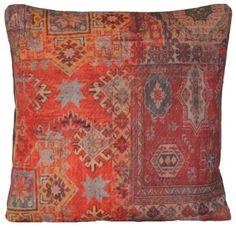 Red Square Cushion Cover Ethnic Rug Decorative Throw Pillow Case Oriental Style Arcobaleno London http://www.amazon.com/dp/B00HH9EPMG/ref=cm_sw_r_pi_dp_pqVMub0G5ZD2X