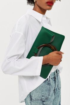 Cookie Green Clutch Bag - New In Bags & Accessories - New In - Topshop