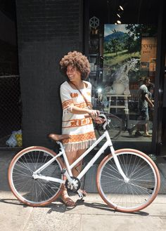 Priority Bicycle on the streets of Soho Bycicle Illustration, Bycicle Woman Electric Mountain Bike, Baskets, Bike Brands, Cycle Chic, Cool Bike Accessories, Bicycle Girl, Bike Style, Trends, Street Style Looks
