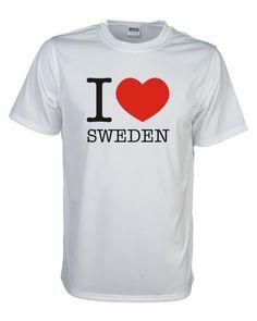 T-Shirt, I love SCHWEDEN (Sweden), Länder Fanshirt S-5XL (WMS11-55) | eBay
