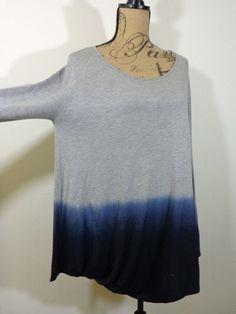 ART TO WEAR Ronen Chen tunic lagenlook top artsy gray quirky designer sz 4 US 12 #RonenChen #Tunic #Casual