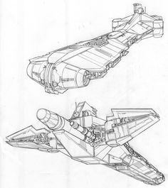 how to draw a spaceship from star wars