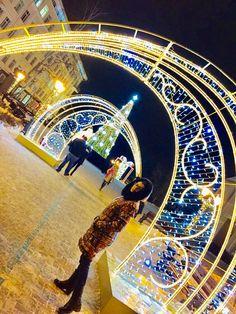 Christmas Arch, Fair Grounds, Urban, Deco, Lighting, Creativity, Xmas, Decor, Lights