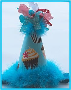 CUPCAKE birthday party hat.