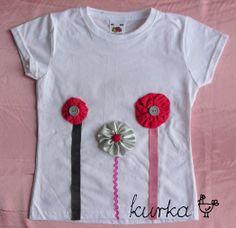 koszulka handmade by kurka - róż srebro