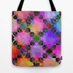 Rainbow Geometrics Tote Bag