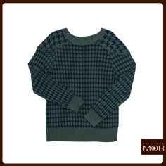 Sweater pied de poule verde Cód. 42206 / Precio $29,990