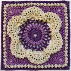 Crochet Granny Square Patterns Cow Parsley Afghan Square Motif By Lettice Rose - Free Crochet Pattern - (ravelry) ༺✿ƬeresaⱤestegui✿༻ - Grannies Crochet, Crochet Squares Afghan, Crochet Motifs, Granny Square Crochet Pattern, Crochet Blocks, Crochet Flower Patterns, Afghan Crochet Patterns, Crochet Flowers, Crochet Stitches