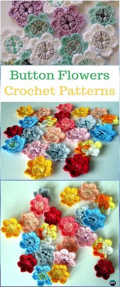 Simply Crochet : Crochet Button Flower Pattern