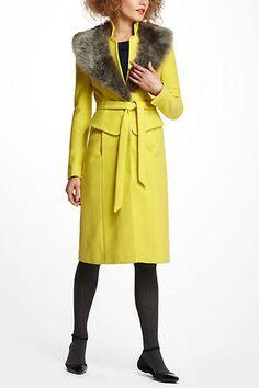 Collared Peplum Coat #anthropologie-BEAUTIFUL!