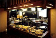 Easy Ways to Make Japanese Kitchen Design: Dark Theme Japanese Kitchen Design With Black Appliances ~ Kitchen Inspiration