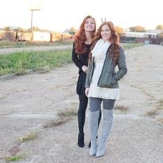 Redheads Winter Outfits Outfit Ideas Friends Style Fashion Ideas Winter Looks Photography Style by Susie Roupe Photo by Christina Wedge Bunny Ears by Alexandra Hernandez ;) www.endsinstyle.com