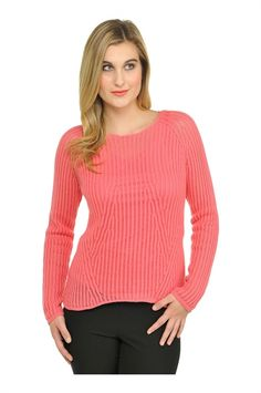 Peter Nygård: Petite Long Sleeve Fashioned Pointelle Pullover