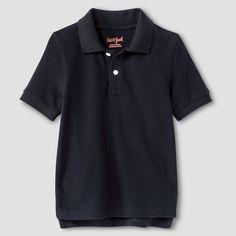 Toddler Boys' Pique Polo Shirt Cat & Jack - Black 3T, Toddler Boy's
