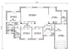 Construction d'une maison contemporaine de 121.15 m2 avec 3 chambres. Des lignes sobres, une belle association d'enduits 2 teintes (n'oubliez pas que c'est vous qui les choisissez), ce modèle contemporain renouvelle ses classiques sans en avoir l'air. En y regardant de plus près, vous noterez les multiples jeux d'avancée et de retrait qui rythment les façades. Cette maison de plain-pied abrite 3 chambres et un vaste salon/séjour de presque 40 m2 qui s'ouvre largement sur le jardin grâce à 2