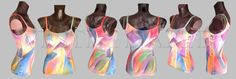HAND PAINTED TANK tops for womens clothing art womens tank tops art wearable art tops painted womens tops hand painted clothing bride top by Vestitidarte on Etsy