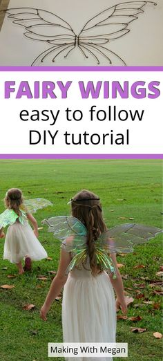 healthy and fitness Fairy Costume Kids, Diy Girls Costumes, Fairy Wings Costume, Fairy Halloween Costumes, Diy Fairy Wings, Adult Fairy Wings, Diy Wings, Tinkerbell Wings, Halloween Wings
