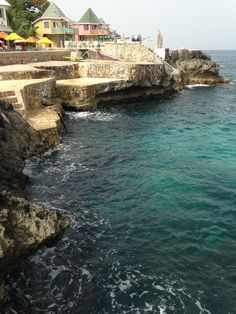 Samsara Resort, Negril, Jamaica. You can cliff dive here. The water is crystal clear.