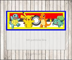 Pokemon bags toppers instant download Pokemon door kitpatricialira