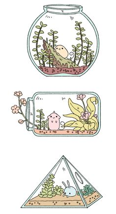 Inspirational Art Work • strangelykatie: Some habitats and some creatures...